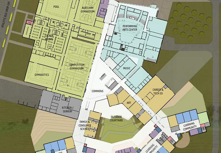 Floor plans for Sun Prairie West High School